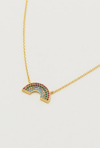 Full Rainbow Pave Necklace