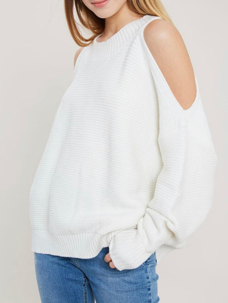 WL Open Shoulder Knit Sweater
