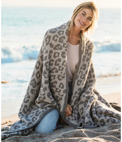 Barefoot In The Wild Throw Linen/ Warm Grey