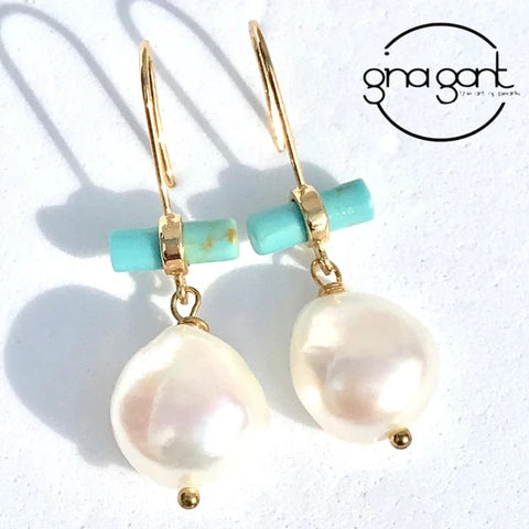 Pearl Tourq Earrings