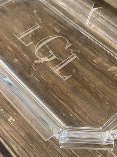 Acrylic Monogrammed Serving Tray