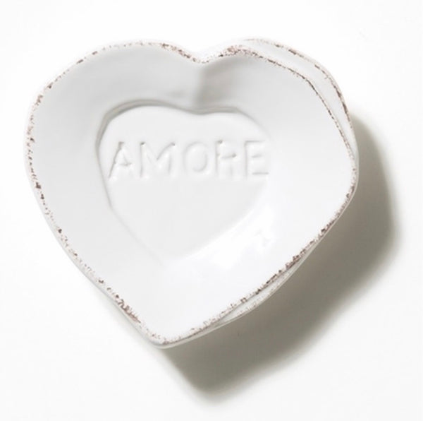 VIE Lastra White Heart mini a more dish