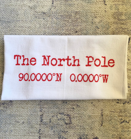 North Pole kitchen towel