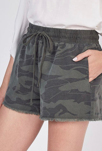 Denim Camo Short