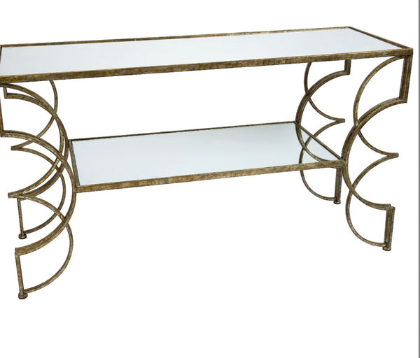 Cindi Mirrored Console Table