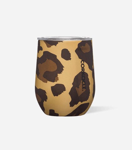 Lux Leopard Stemless 12 oz
