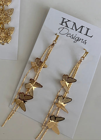Flying Butterfly Earrings