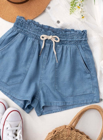 Tencel Summer Shorts with Draw String