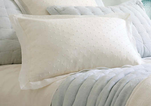 Savannah Dot Linen King Sham