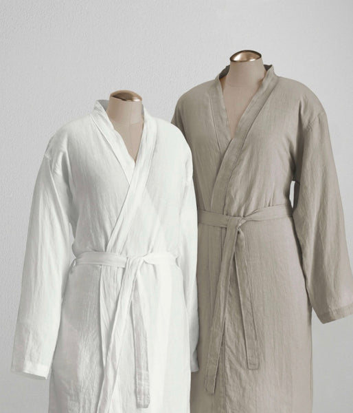 100 % Linen BathRobe One Size