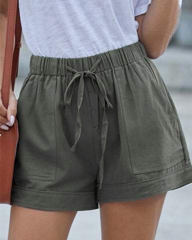 Tencel Summer Shorts Green