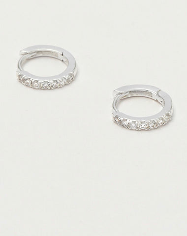 White Gold Pave Hoop