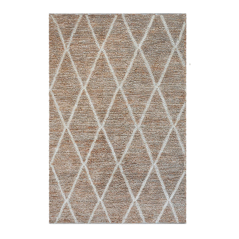 Ivory Cross Natural Hemp Rug