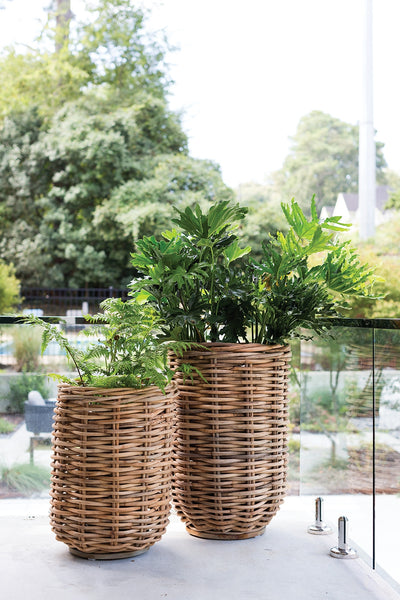 Kaya Tall Wicker Basket