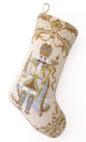 Nutcracker Needlepoint Pillow