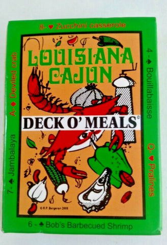 Deck O' Meals Louisiana Playing Cards