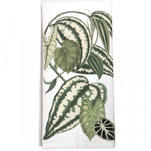 Striped Leaves Towel
