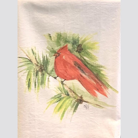Red Bird Tea Towel