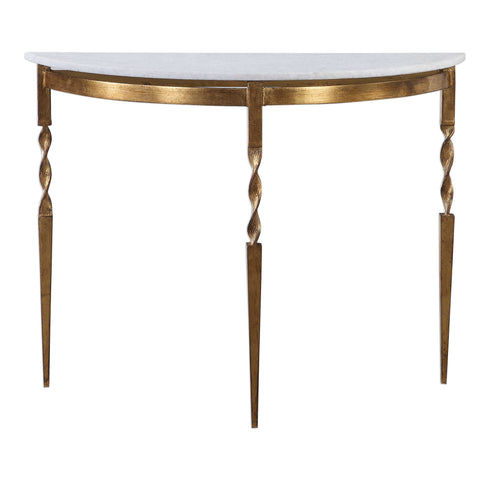Marble Demilune Console Table