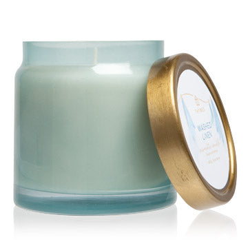 Thymes Washed Linen Jar Candle