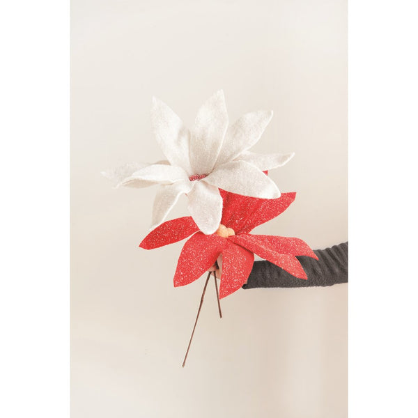 "16"" Felt Poinsettia Pick"