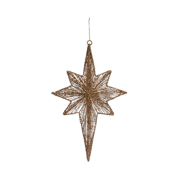 "19""H Metal Wire Moravian Star"