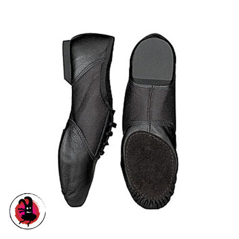 Capezio Split Sole Leather Black Jazz Shoes