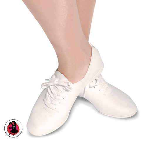 White Full Sole Jazz Shoes