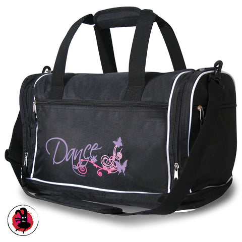 Great Black Dance Holdall with Pink Design