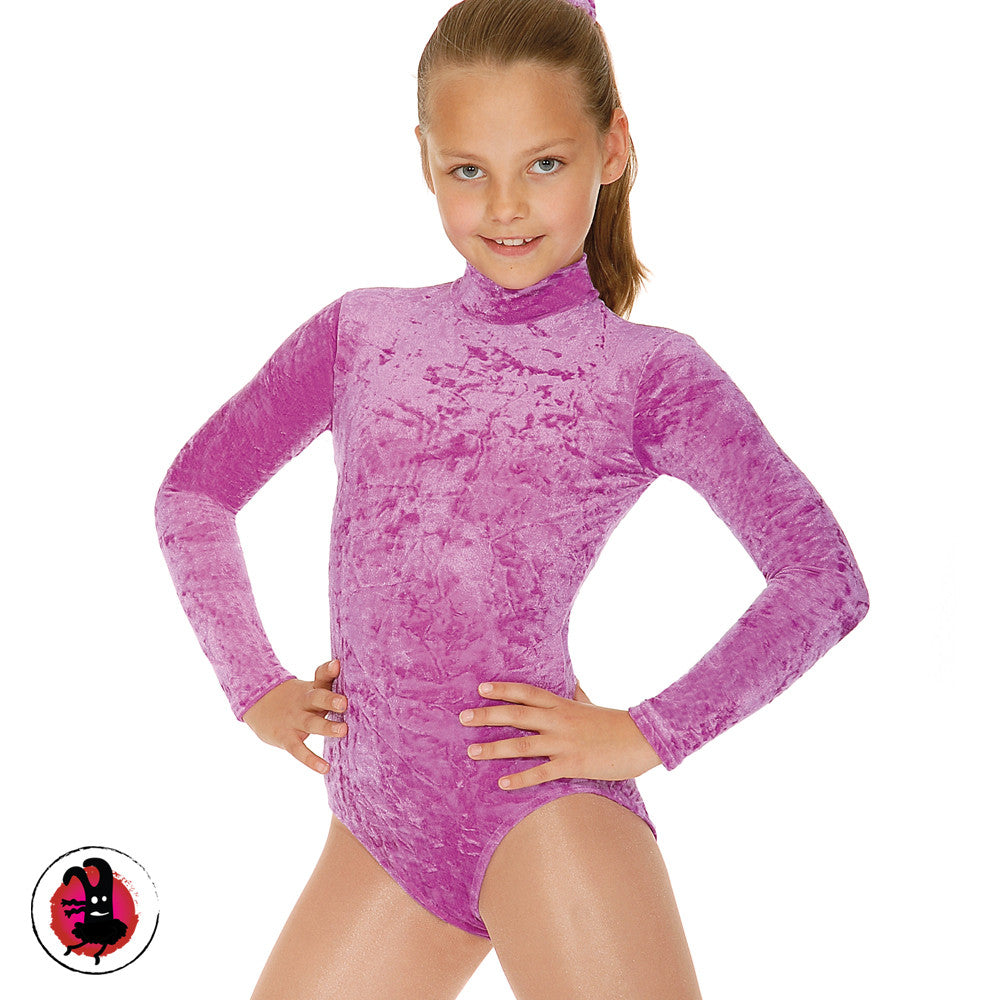 Jane Long Sleeved Velour Turtle Neck Leotard (Many Colours)