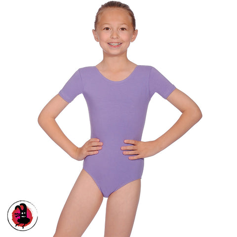Prim Short Sleeved Cotton Leotard. (Many Colours)