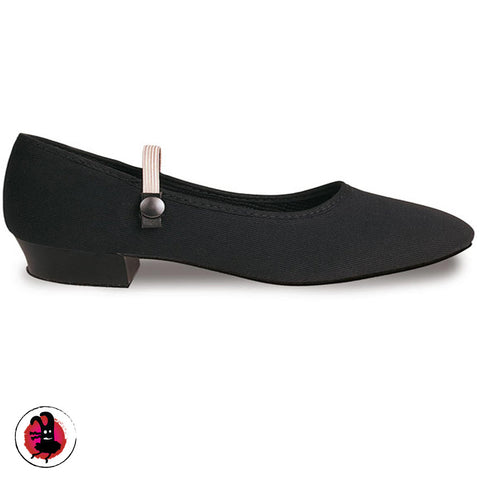 Regulation Low Heel Black Character Shoes