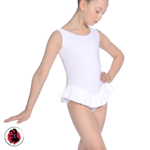 Sleeveless Leotard with Attached Frill Skirt