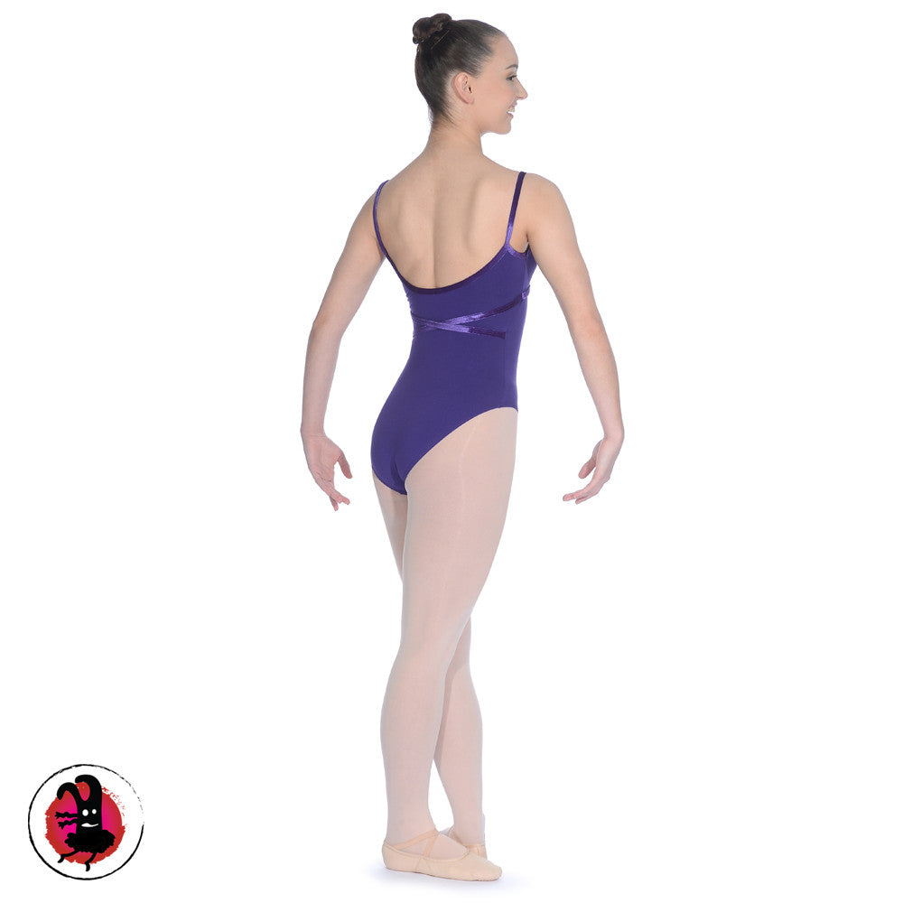 Toni Sleeveless Leotard with Velour Trim