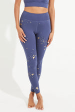 'Stardust' recycled high waisted legging - black or indigo