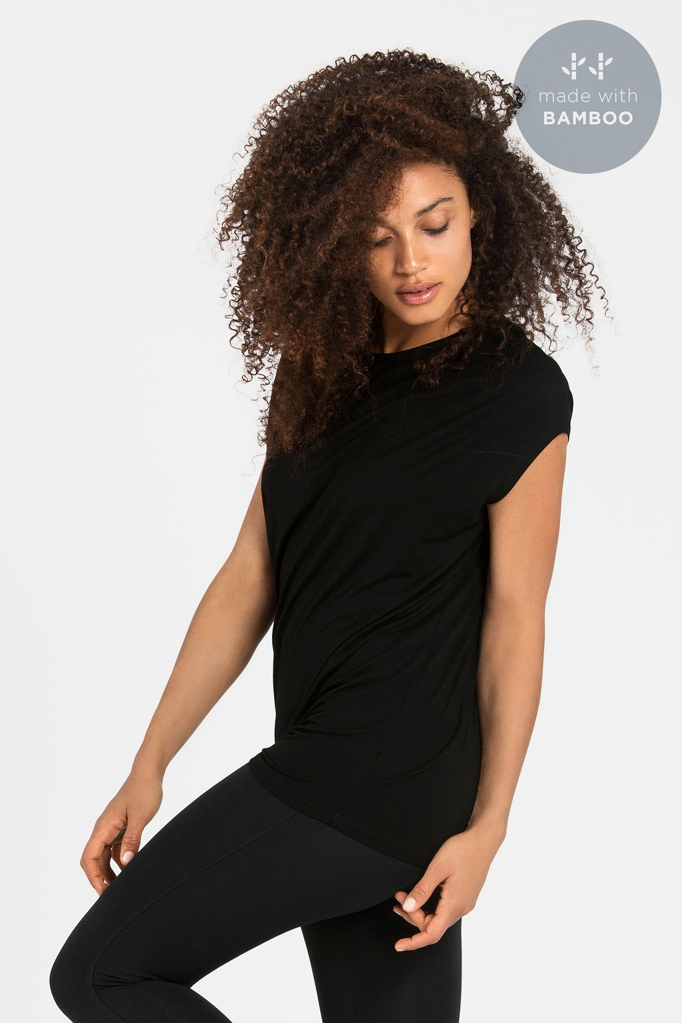 'Luxe Layer' Top - Bamboo - Black