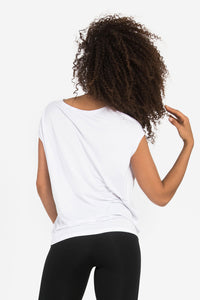 'Luxe Layer' Top - Bamboo - White