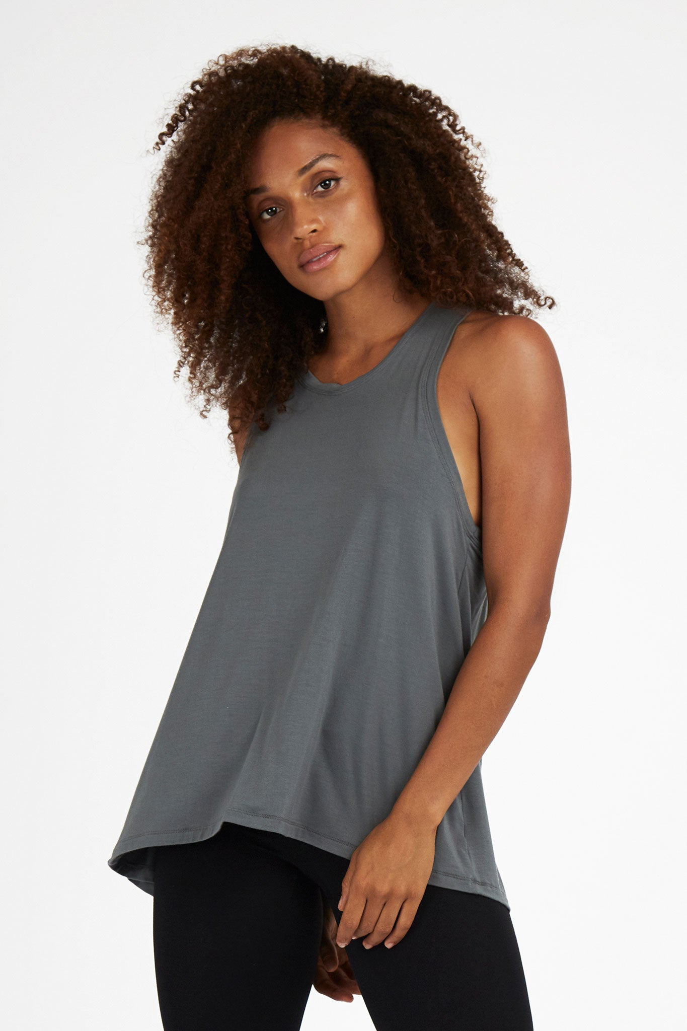 'Splice Tee' Top - Bamboo - Sage