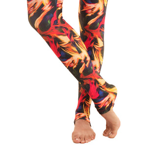 'Light in the dark' capri printed leggings