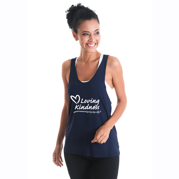 'Racer Tank' - Navy or Black