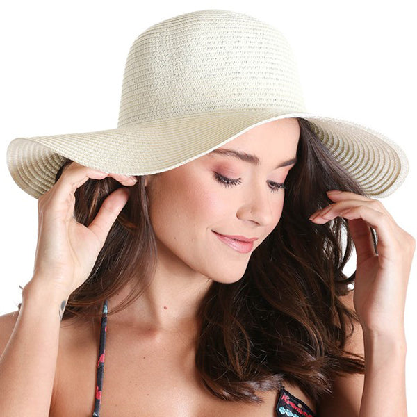 'Summer' Hat - White or Stone