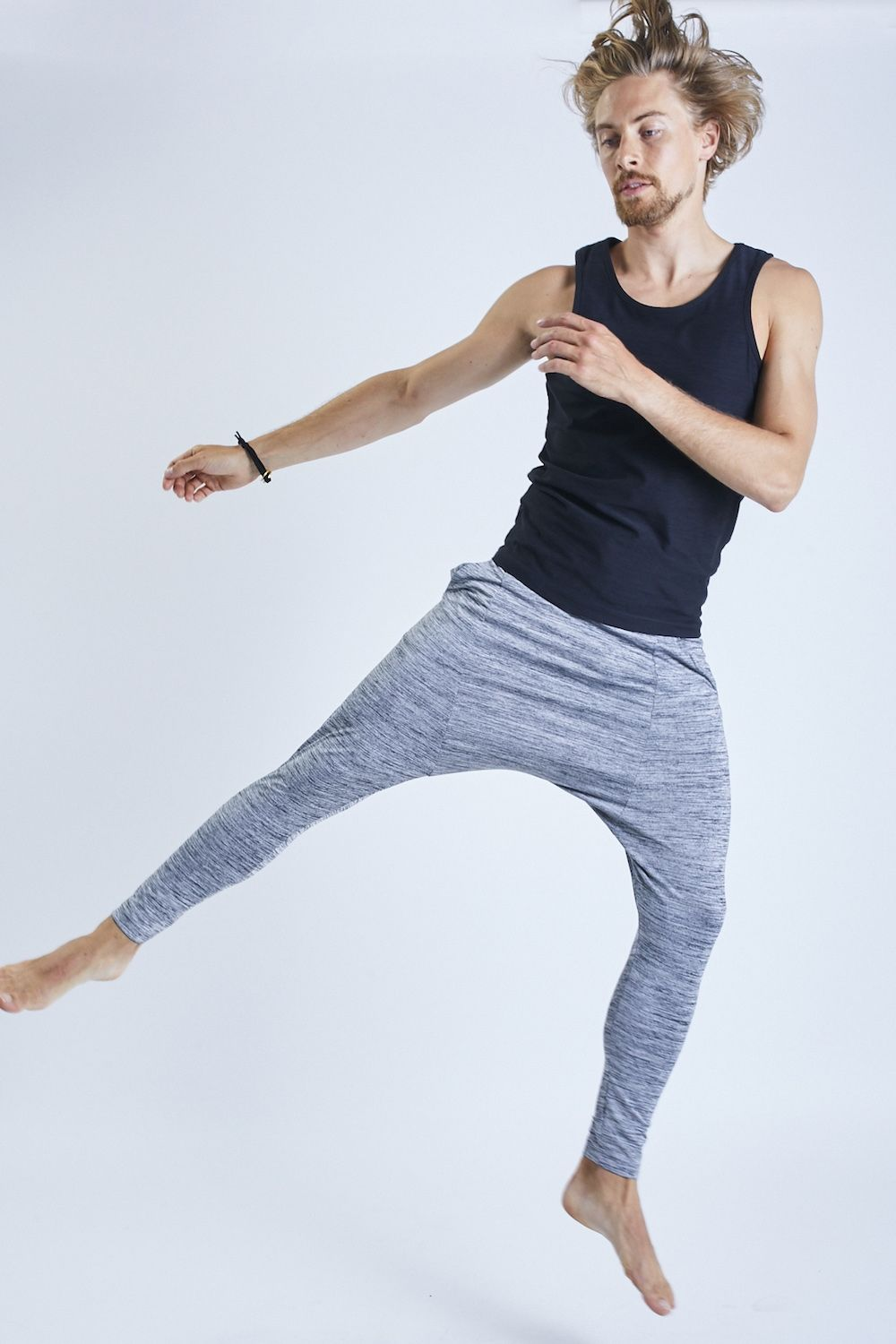 'Matsyendra' Yoga Pants - Grey
