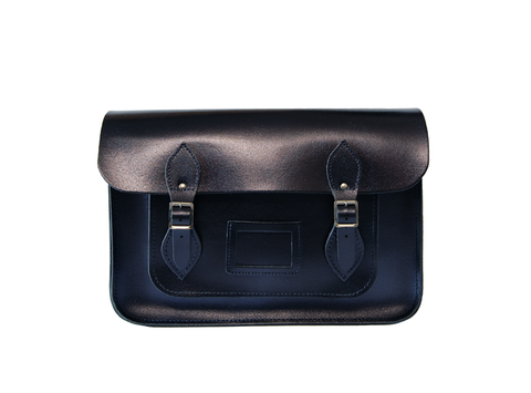 Black & Blue Metallic Satchel