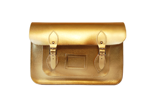 Gold Metallic Satchel