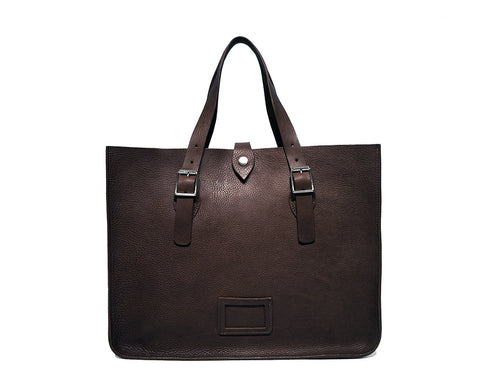 Brown Soft Leather Tote