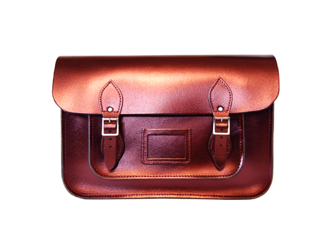 Red Metallic Satchel