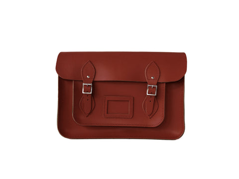 Rouge Red Leather Satchel