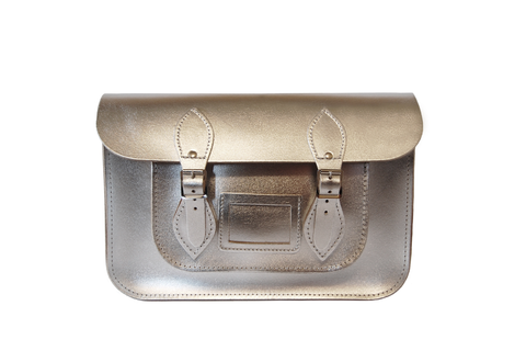 Silver Metallic Satchel