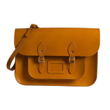 London Tan Leather Satchel