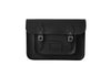 Ebony Black Leather Satchel